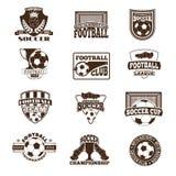 De vectorreeks van het voetbalteken Royalty-vrije Stock Afbeeldingen