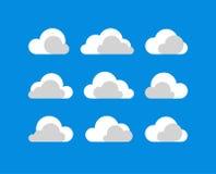 De vectorreeks van het wolkenpictogram Royalty-vrije Stock Foto