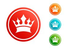 De vectorreeks van de koningskroon Stock Afbeelding