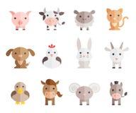 De vectorreeks van landbouwbedrijfdieren Royalty-vrije Stock Fotografie