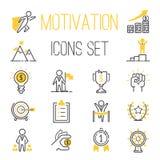 De vectorreeks van motivatiepictogrammen stock illustratie