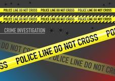 De vectorreeks van Politielijn kruist band, en kogel geen gaten Royalty-vrije Stock Foto's
