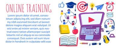 De vectorreeks van de schoolkrabbel het leren van vreemde talen Hand getrokken pictogrammen royalty-vrije illustratie
