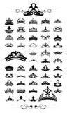 De Vectorreeks van silhouetten van kroon 50 Royalty-vrije Stock Foto