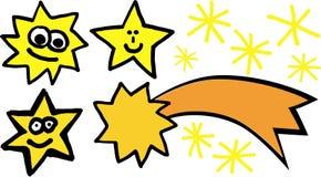 De vectorreeks van sterren Stock Afbeeldingen