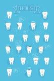 De vectorreeks van tandenemoties Stock Fotografie