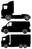De vectorreeks van vrachtwagens Royalty-vrije Stock Foto