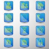 De vectorreeks Webknopen Verschillende symbolen Stock Foto's