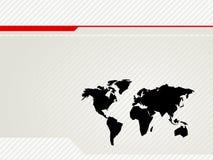 De VectorRug van de Kaart van de wereld Stock Afbeeldingen