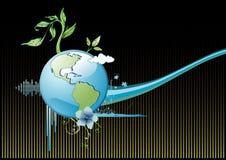 De vectorsamenstelling van de aarde Stock Fotografie