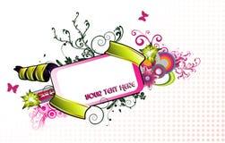 De vectorsamenstelling van de banner Stock Foto