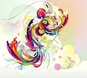 De vectorsamenstelling van de kleur Stock Foto's