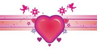 De vectorsamenstelling van de liefde Royalty-vrije Stock Afbeeldingen