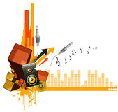 De vectorsamenstelling van de muziek Stock Foto