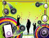 De vectorsamenstelling van de muziek Royalty-vrije Stock Foto's