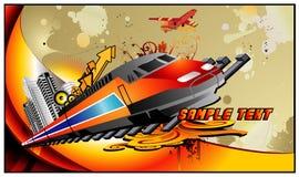 De vectorsamenstelling van de trein Stock Fotografie