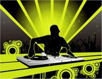 De vectorsamenstelling van DJ stock illustratie