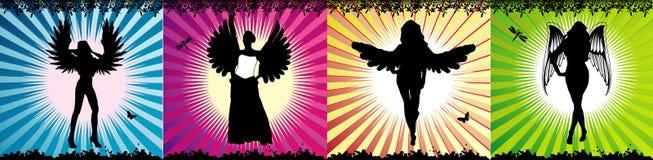 De vectorsamenstelling van engelen royalty-vrije illustratie