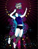 De vectorsamenstelling van het volleyball Royalty-vrije Stock Afbeeldingen