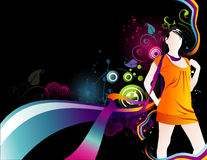 De vectorsamenstelling van meisjes royalty-vrije illustratie