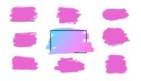 De vectorslag van de verfborstel, borstel, lijn of textuur Vuil artistiek ontwerpelement, vakje, kader of achtergrond voor tekst vector illustratie