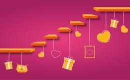 De vectorstappen van Valentine Stock Foto