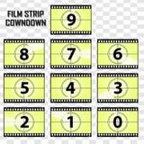 De vectorstrook van de beeldfilm cowndown Royalty-vrije Stock Afbeeldingen