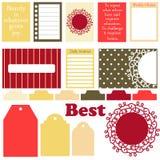 De vectortekens en de symbolen voor organiseerden uw ontwerper Royalty-vrije Stock Foto