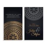 De vectoruitnodiging van het luxehuwelijk met mandala Royalty-vrije Stock Afbeelding