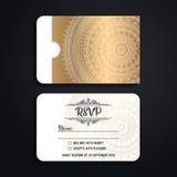 De vectoruitnodiging van het luxehuwelijk met mandala Royalty-vrije Stock Foto's