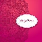 De vectoruitnodiging van het luxehuwelijk met mandala Stock Afbeelding