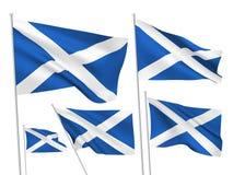 De vectorvlaggen van Schotland Royalty-vrije Stock Foto