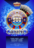 De vectorvlieger van malplaatjepromo voor de partij van de casinonacht Stock Afbeeldingen