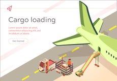 De vectorvoorbereiding van de de Ladingsvlucht van de Bannerlading royalty-vrije illustratie