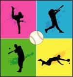De vectorvormen van het honkbal Stock Afbeeldingen