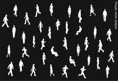 De vectorvormen van mensen Royalty-vrije Stock Foto