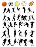 De vectorvormen van sporten Stock Afbeelding