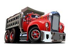 De vectorvrachtwagen van de Beeldverhaal Retro Stortplaats royalty-vrije illustratie