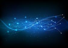 De vectorwetenschap van achtergrond abstracte technologiecommunicatiegegevens Stock Fotografie