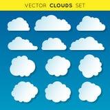 De vectorwolken plaatsen 1 Royalty-vrije Stock Fotografie