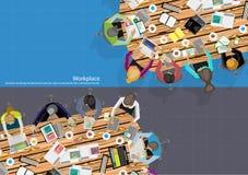 De vectorzakenman Brainstorming Analysis van het teamwerk van het marketing plan Stock Foto