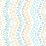 De vectorzigzag croched naadloos patroon Royalty-vrije Stock Afbeelding