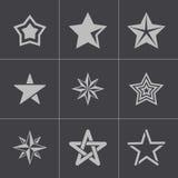 De vectorzwarte speelt geplaatste pictogrammen mee vector illustratie