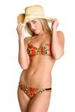 De Veedrijfster van de bikini stock afbeelding