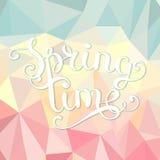 De veelhoekige achtergrond van de de lentetijd Royalty-vrije Stock Afbeelding