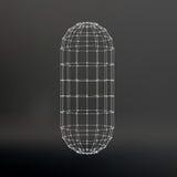 De veelhoekige capsule van het Wireframenetwerk E royalty-vrije illustratie