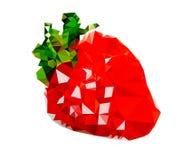 De veelhoekige Illustratie van het Aardbeifruit Stock Foto's