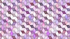 De veelkleurige Lijn van de de Gradiëntmotie van de Kubusvorm stock videobeelden