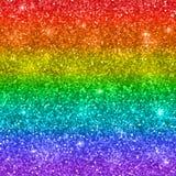 De veelkleurige regenboog schittert achtergrond Vector Royalty-vrije Stock Foto's