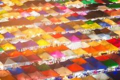 De veelvoudige bovenkant van het de marktdak van de kleurennacht Royalty-vrije Stock Afbeelding